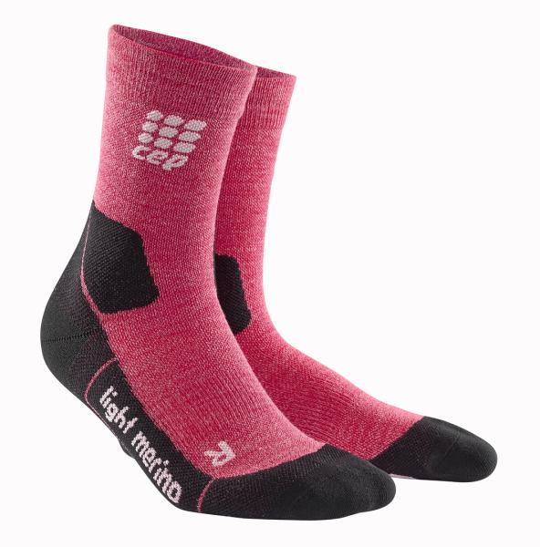 MERINO COMPRESSION MID CUT SOCKS HIKING LIGHT Frauen